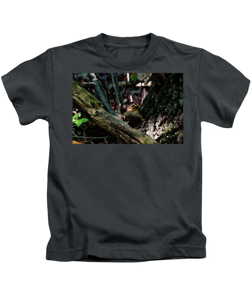 Kids T-Shirt featuring the photograph Curiosity by Jessie Henry