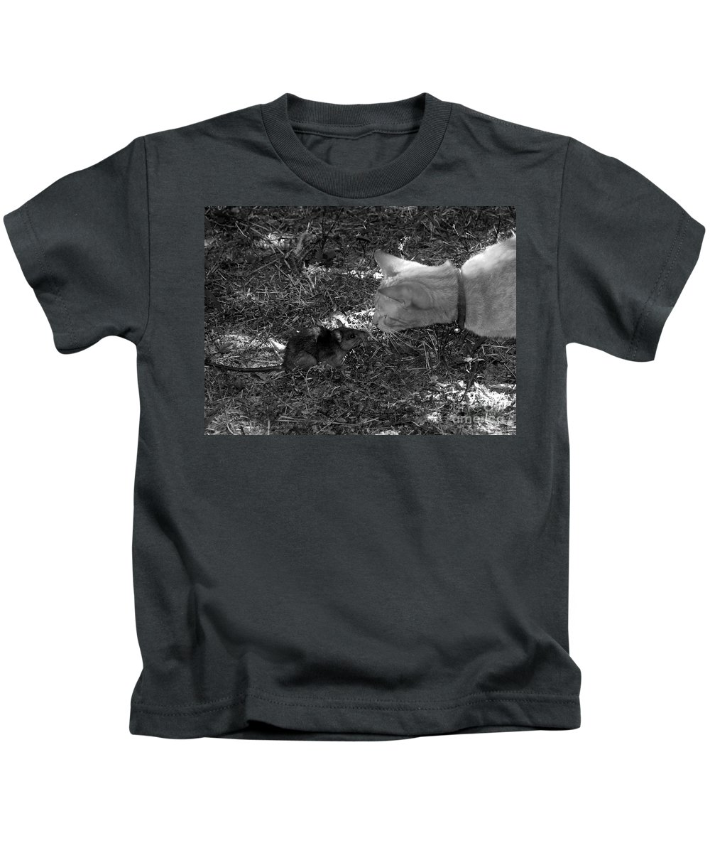 T Kids T-Shirt featuring the photograph Curious by David Lee Thompson