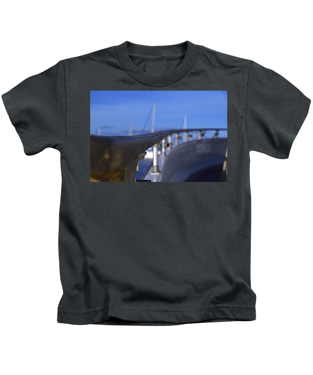 Boat Kids T-Shirt featuring the photograph Curves by Kellie Prowse