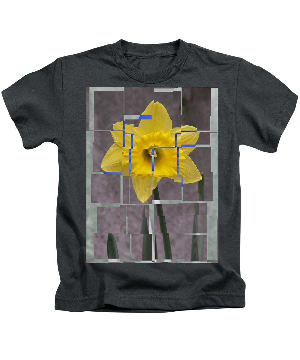 Flower Kids T-Shirt featuring the digital art Daffodil 1 by Tim Allen