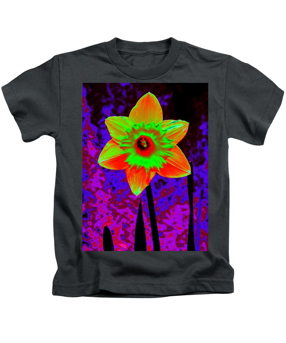 Daffodil Kids T-Shirt featuring the photograph Daffodil 2 by Tim Allen