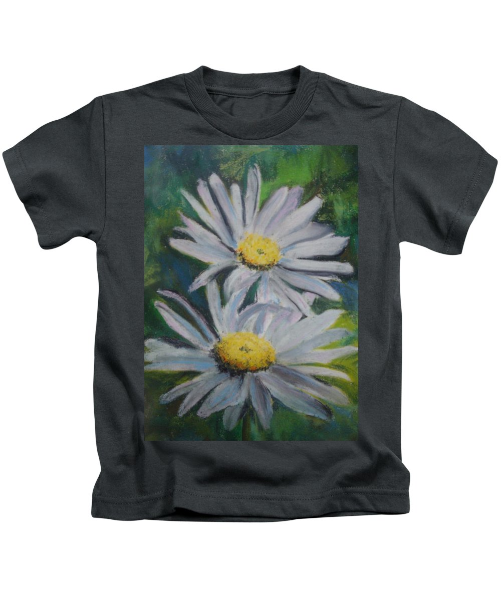 Daisies Kids T-Shirt featuring the painting Daisies by Melinda Etzold