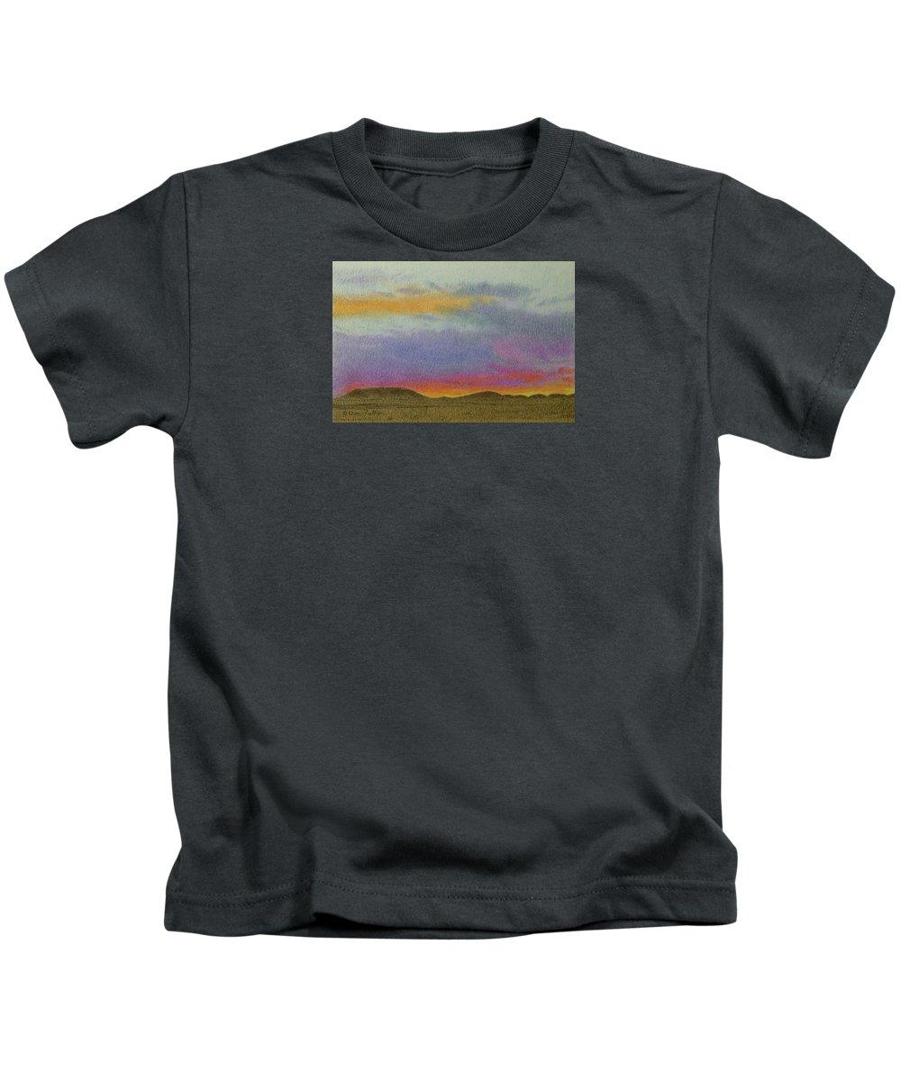 North Dakota Kids T-Shirt featuring the pastel Dakota Sunset Glow by Cris Fulton