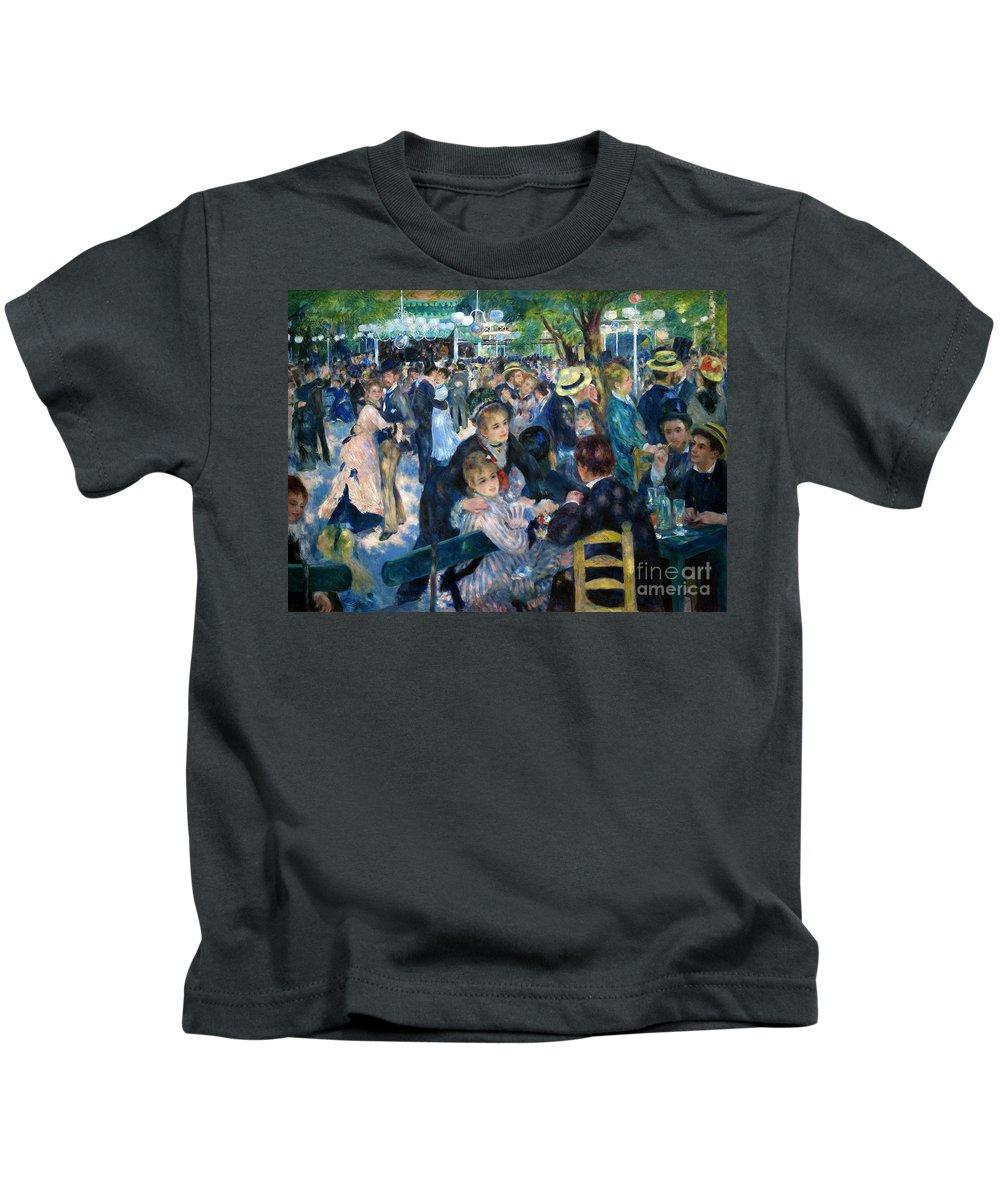 Le Moulin De La Galette Photographs Kids T-Shirts
