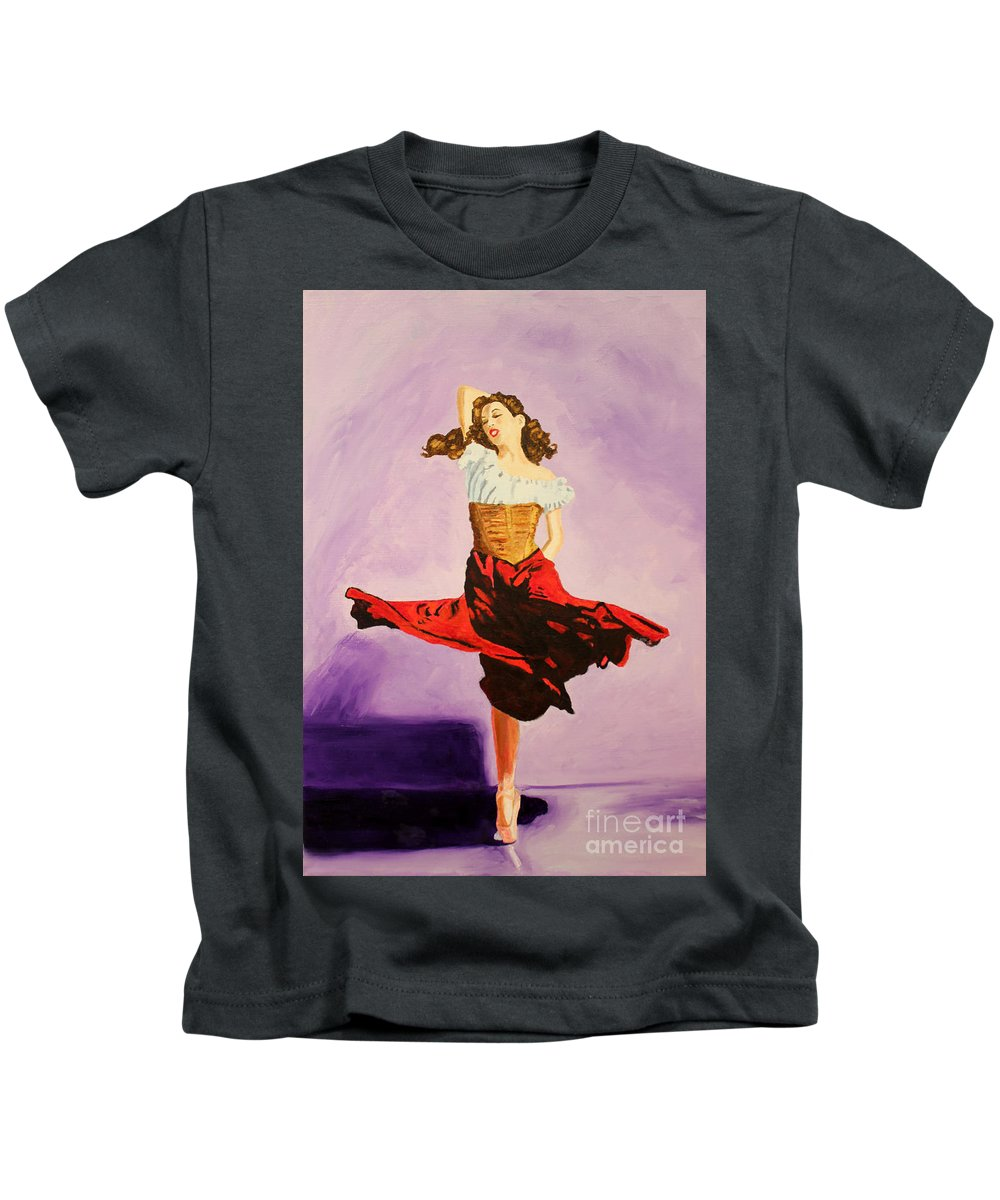 Oil On Canvas Kids T-Shirt featuring the painting Dancer by Debbie Davidsohn
