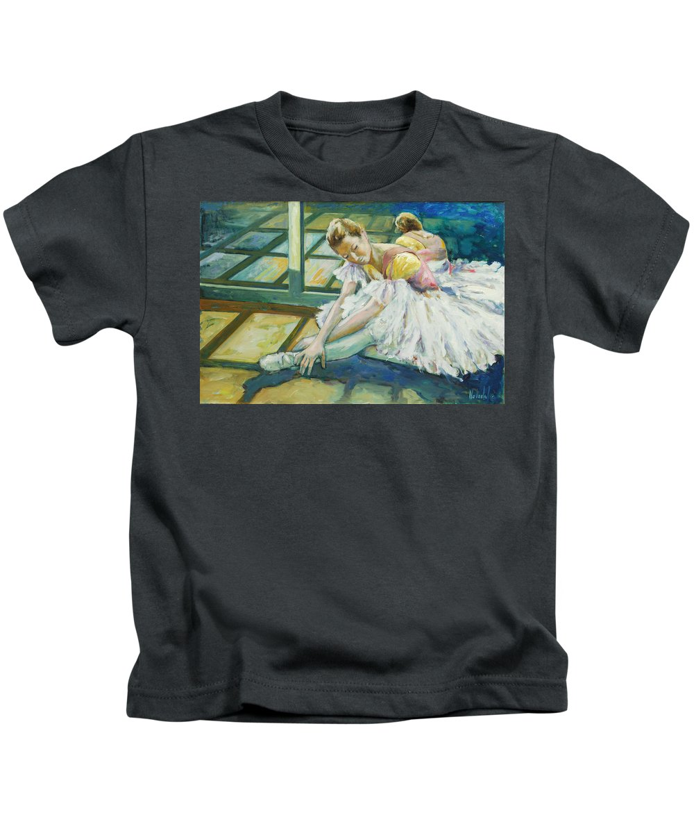 Glass Kids T-Shirt featuring the painting Dancer by Rick Nederlof