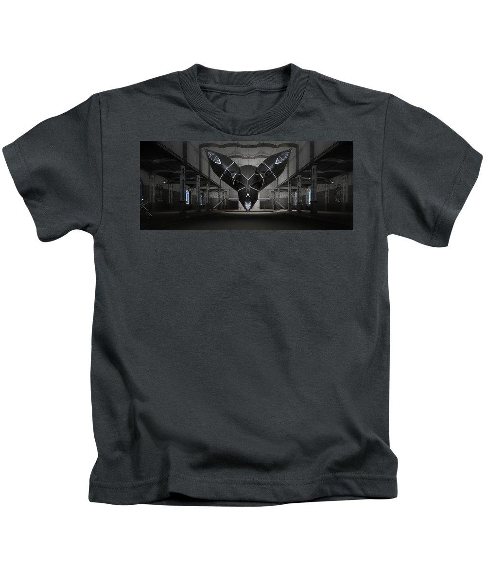 Sci Fi Kids T-Shirt featuring the digital art Darck Choky by Ivailo Ivanov