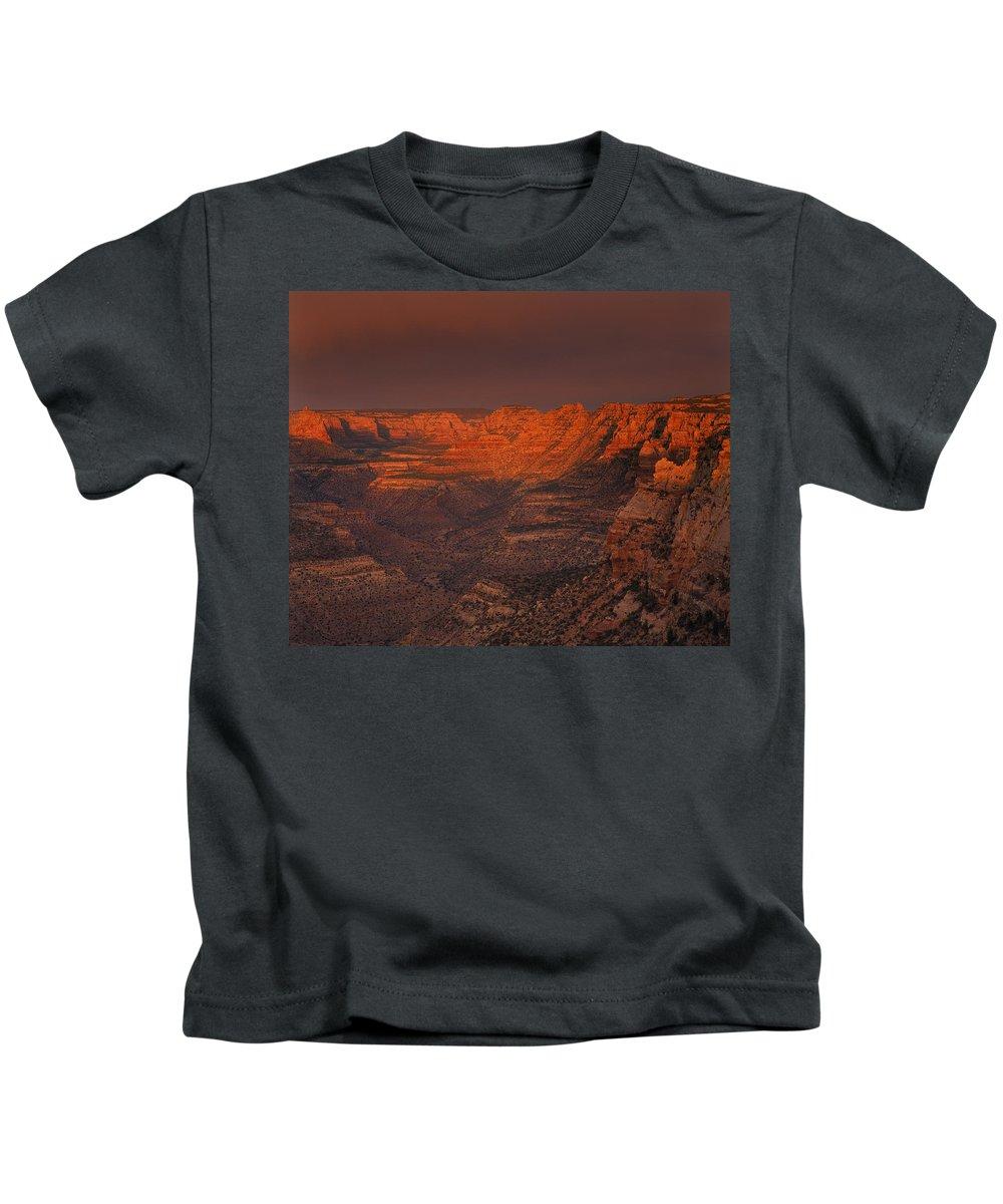 Dark Canyon Wilderness Kids T-Shirt featuring the photograph Dark Canyon Wilderness by Leland D Howard