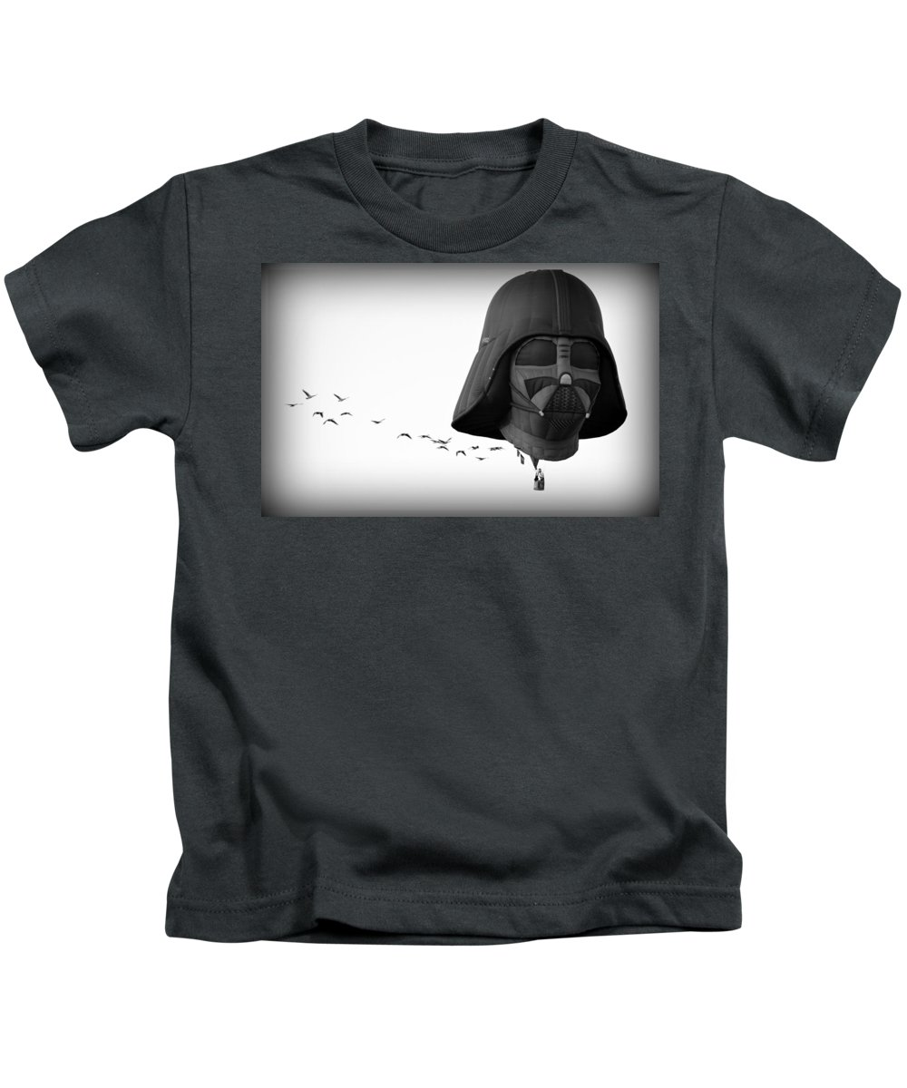 Scenic Kids T-Shirt featuring the photograph Darth And His Flock by AJ Schibig