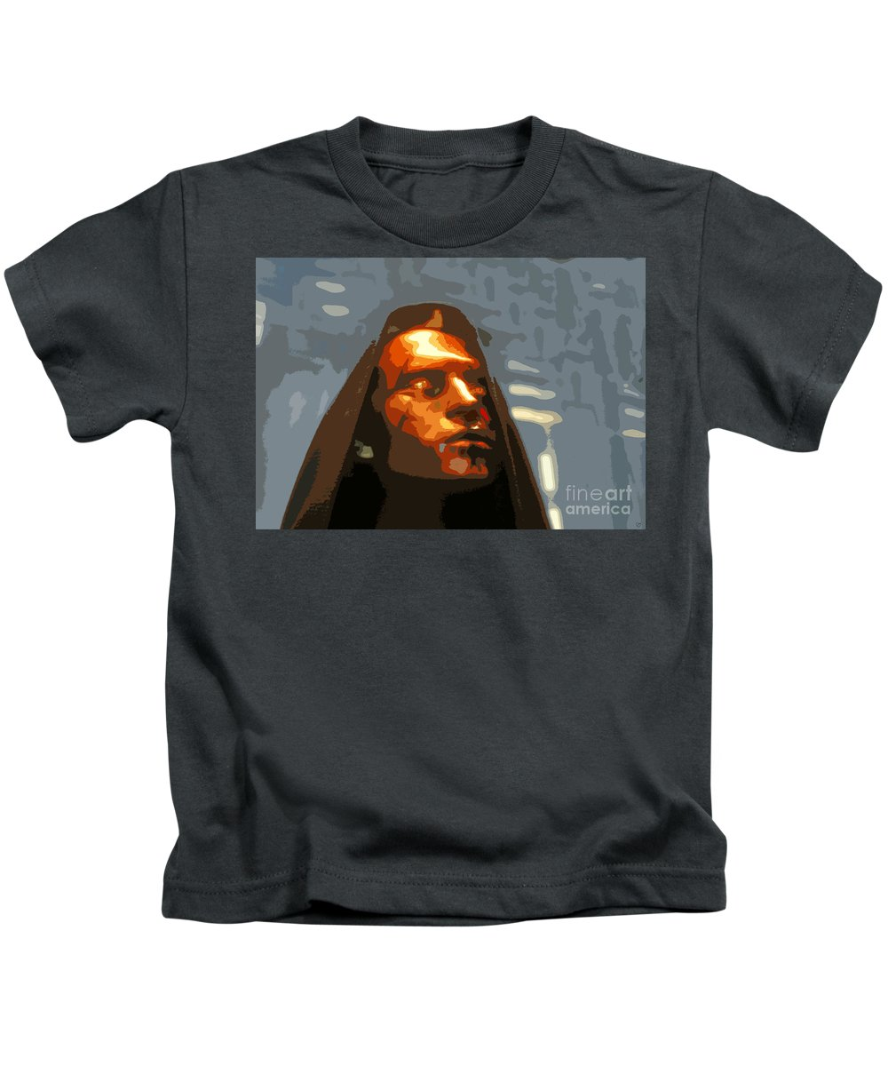 Darth Maul Kids T-Shirt featuring the painting Darth Maul by David Lee Thompson