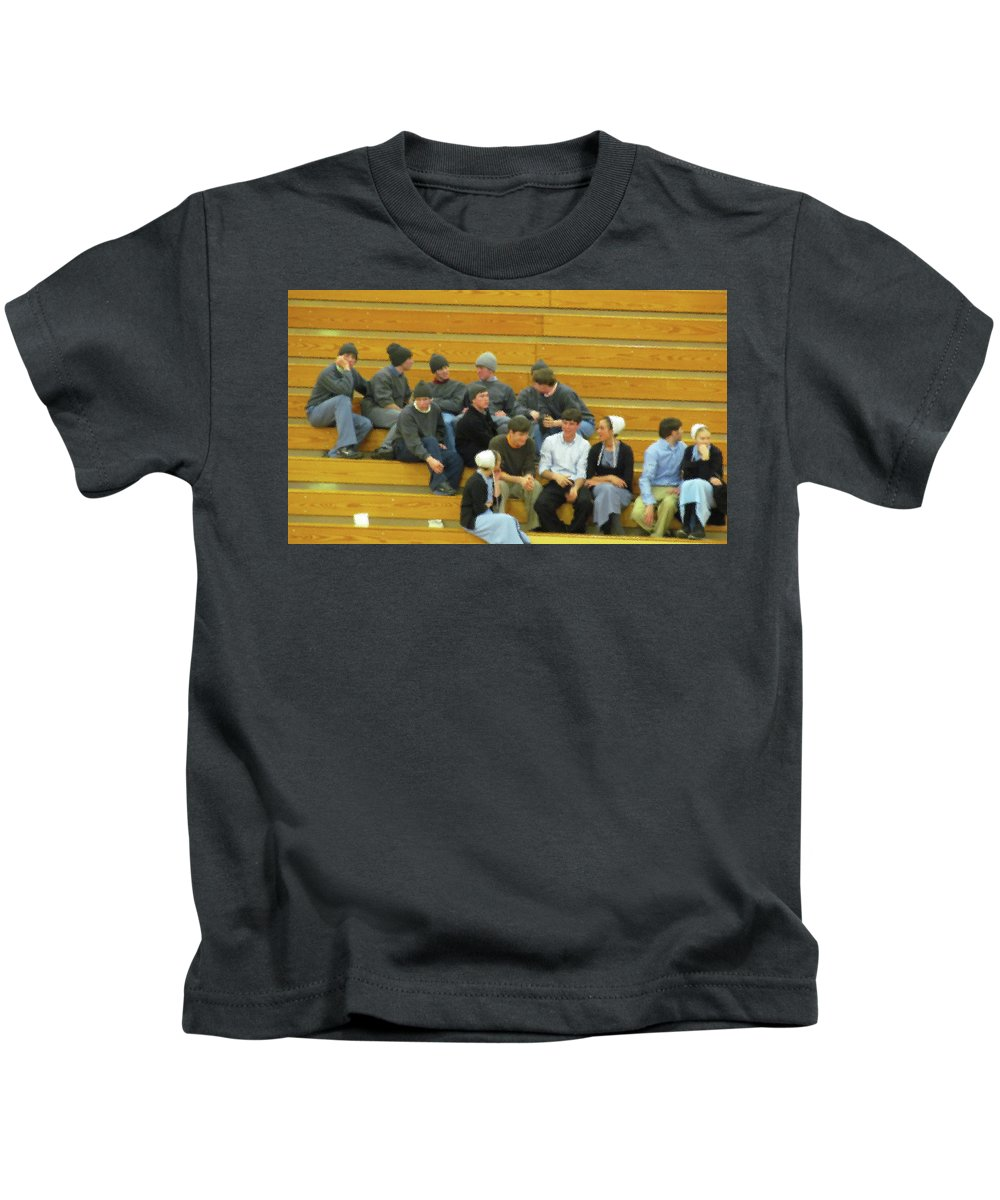 Girls Kids T-Shirt featuring the photograph Date Night by Tina M Wenger