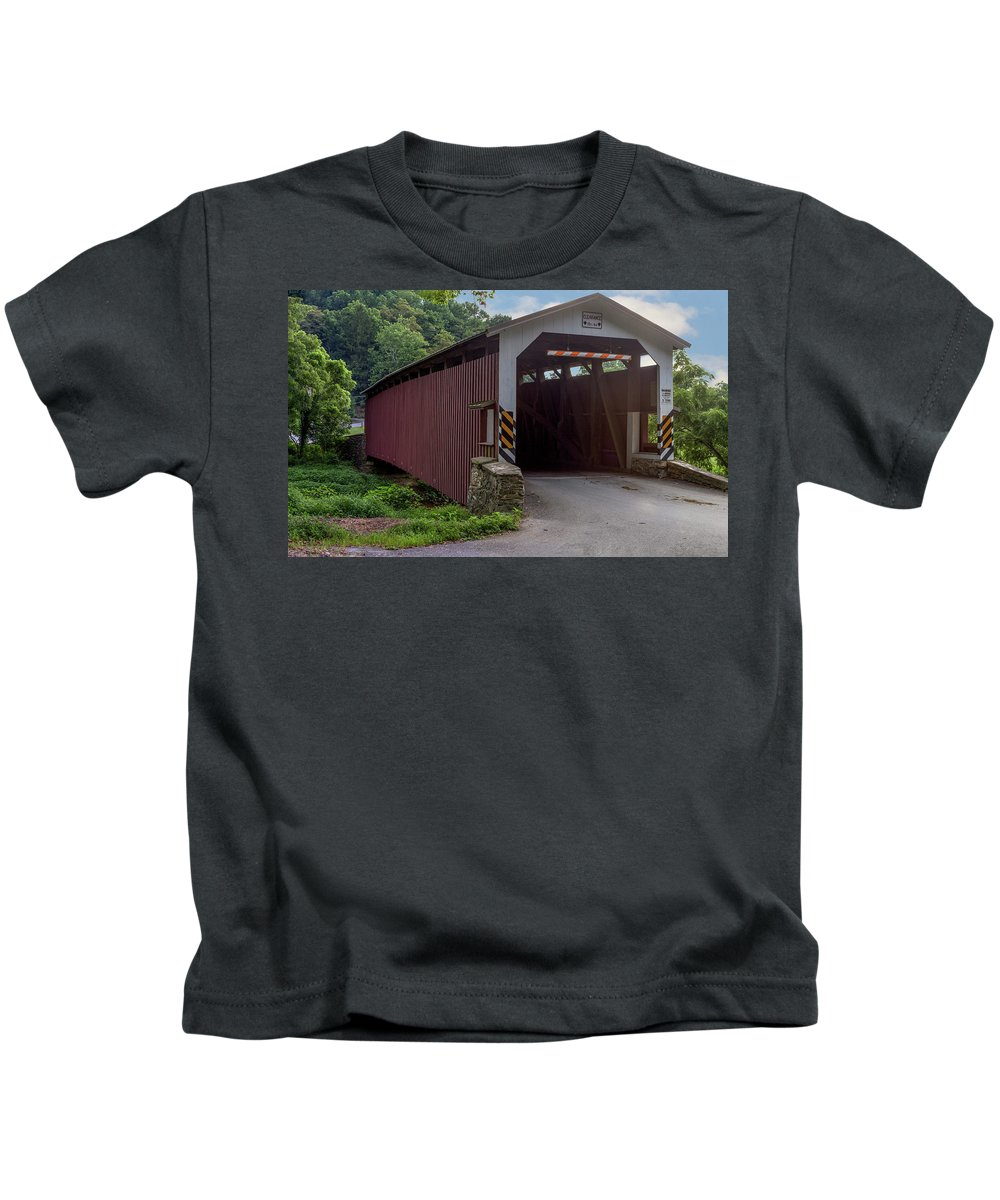 Architecture Kids T-Shirt featuring the mixed media Day Dreaming by Capt Gerry Hare
