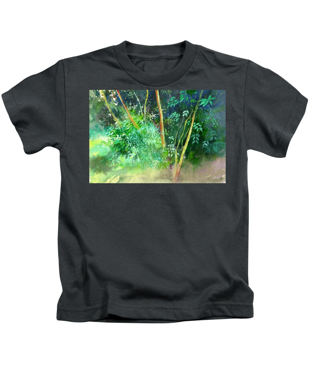 Water Color Kids T-Shirt featuring the painting Deep by Anil Nene