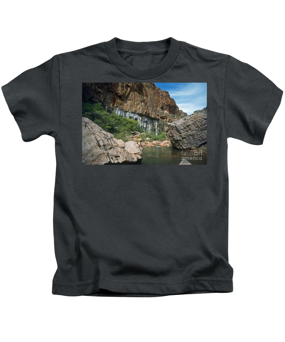 Landscape Kids T-Shirt featuring the photograph Deep Water by Kathy McClure