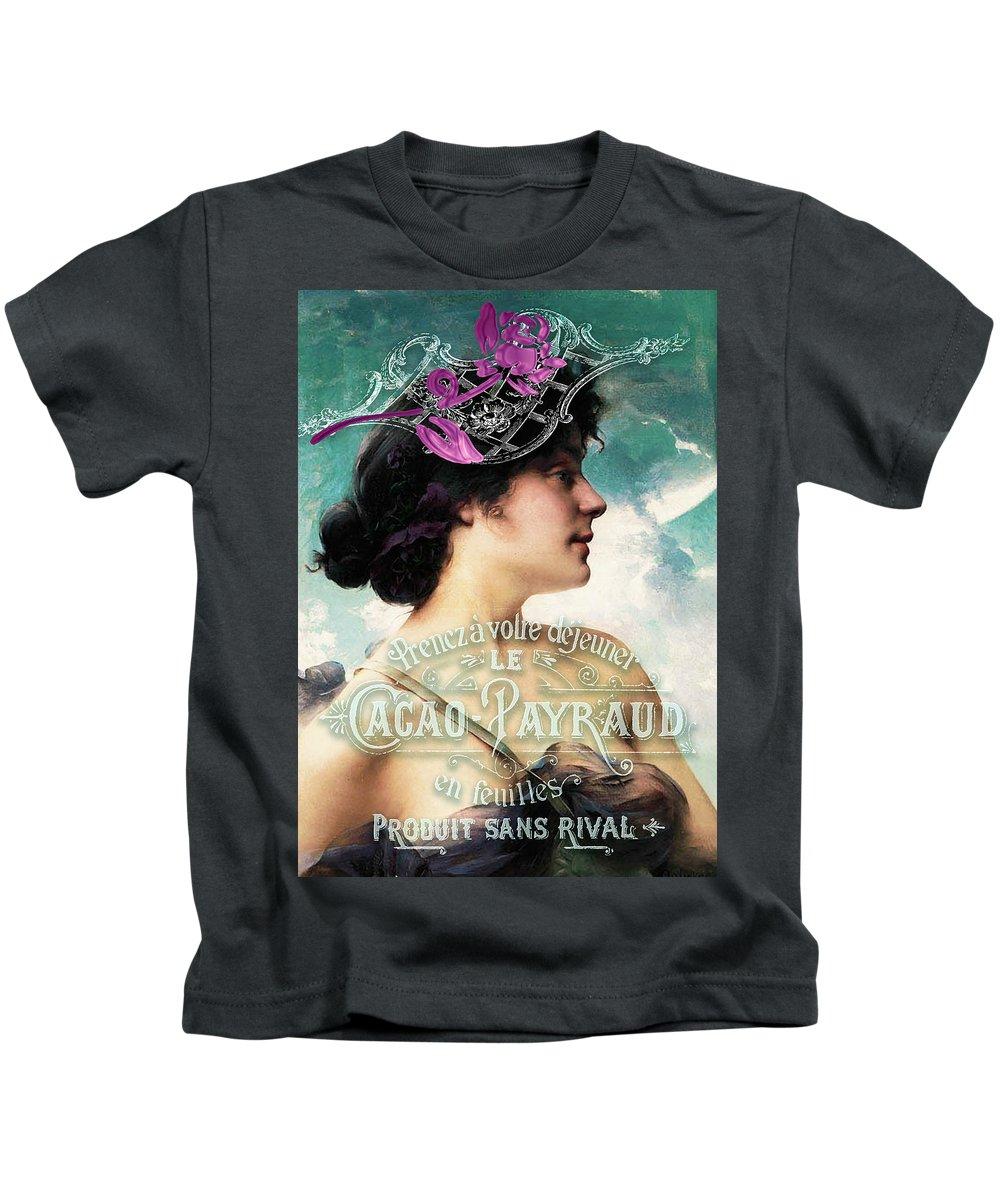 Beauty Kids T-Shirt featuring the digital art Dejeuner De Luxe by Sarah Vernon