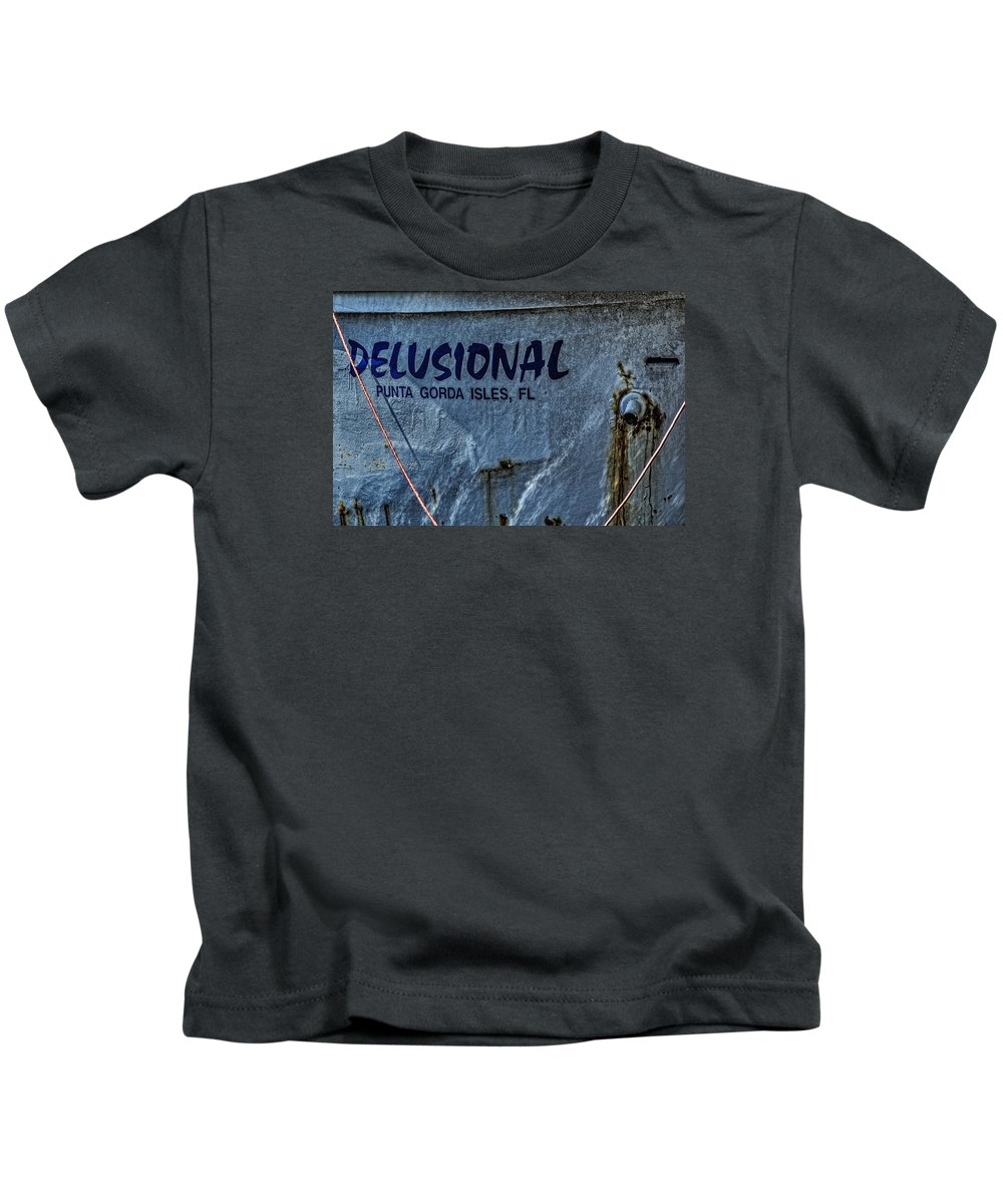 Boat Kids T-Shirt featuring the photograph Delusional by Mitch Spence