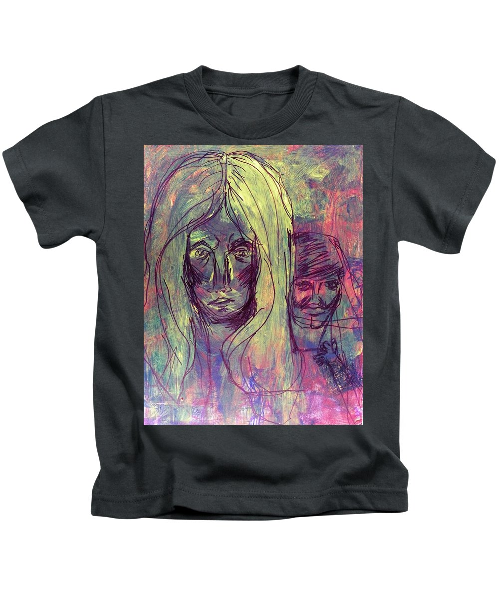 Abstract Kids T-Shirt featuring the painting Dental Phobia by Judith Redman