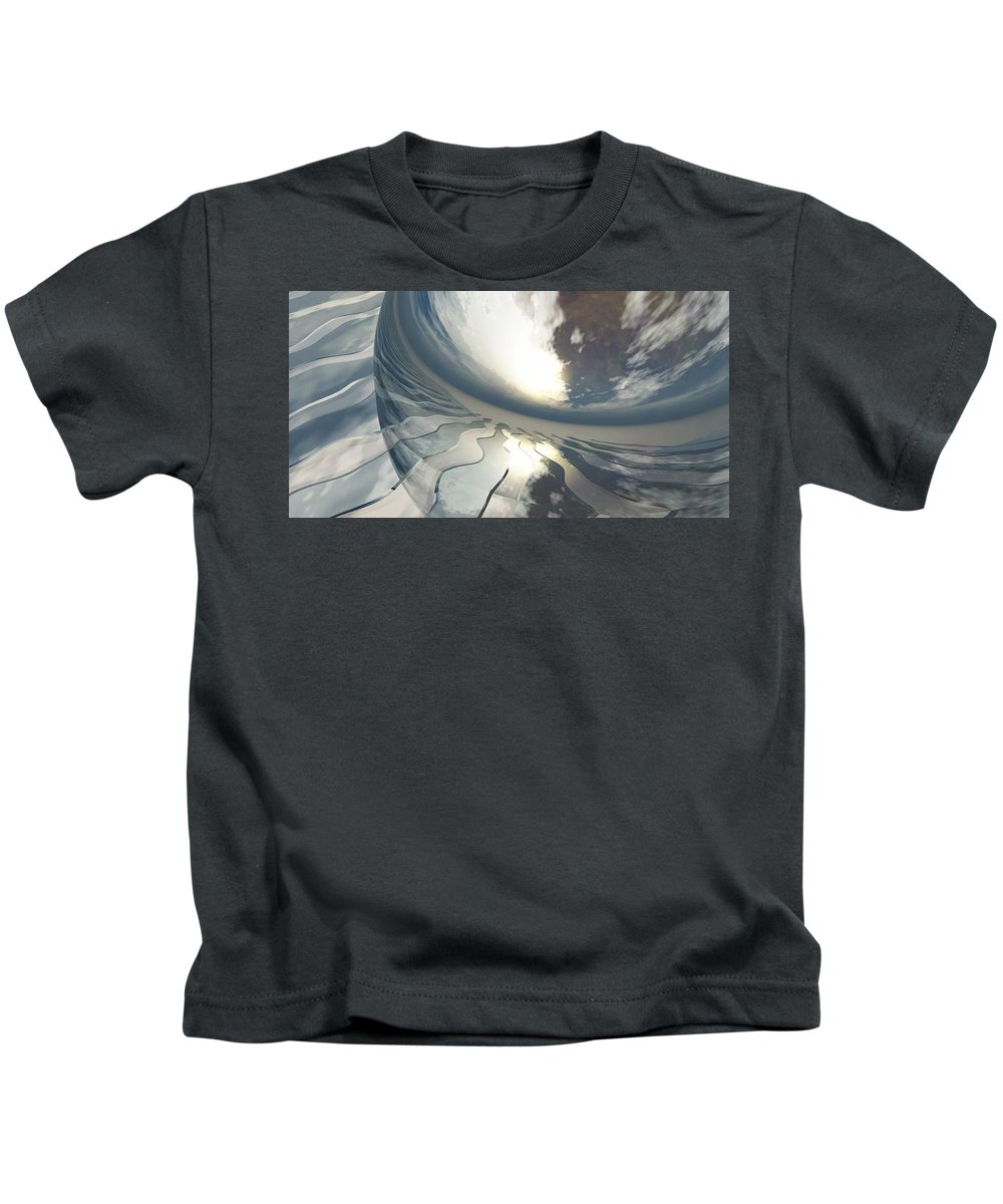 Fantasy Kids T-Shirt featuring the digital art Deviating World by Richard Rizzo