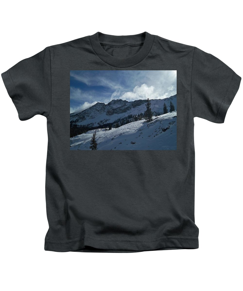 Ski Kids T-Shirt featuring the photograph Devils Castle Morning Light by Michael Cuozzo