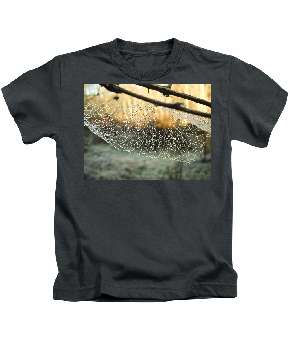 Spider Kids T-Shirt featuring the photograph Dew by Herman Robert