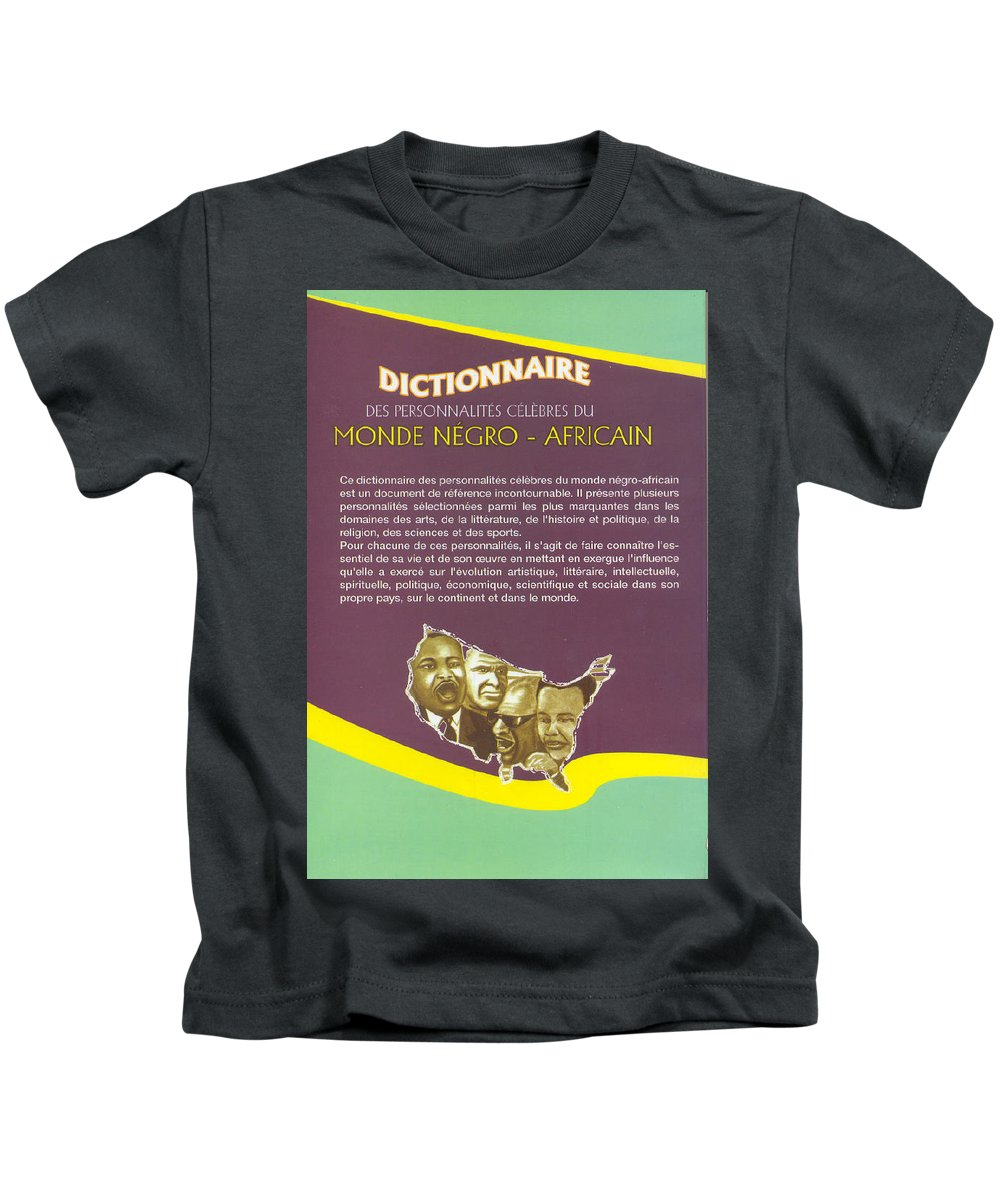 Dictionary Kids T-Shirt featuring the painting Dictionary Of Negroafrican Celebrities 2 by Emmanuel Baliyanga