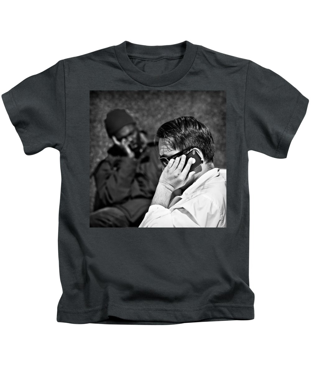 People Kids T-Shirt featuring the photograph Different Lives by Dave Bowman