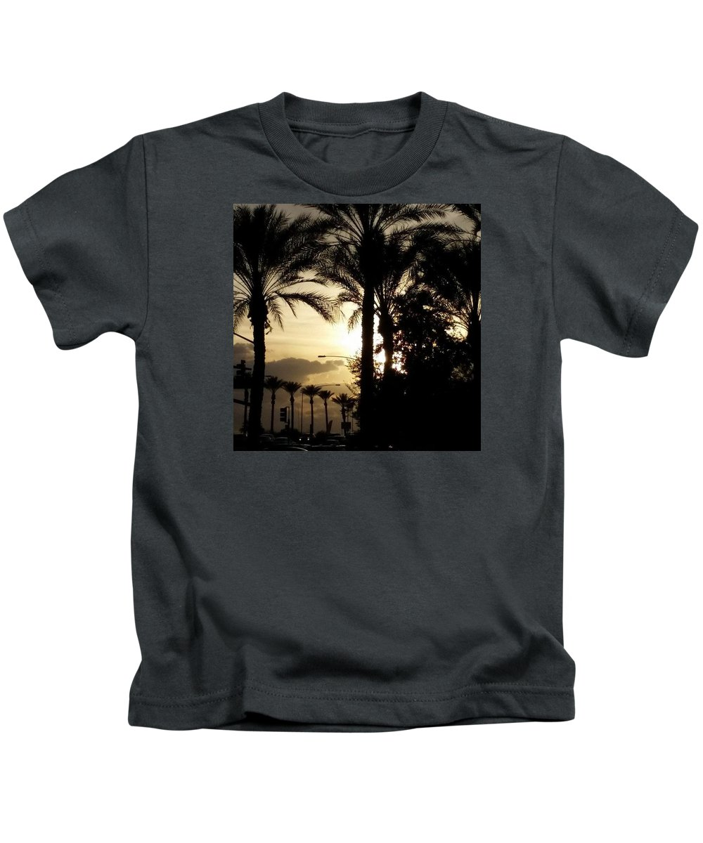 Sun Kids T-Shirt featuring the photograph Dinner In The Sun Light by Lisa Cooley