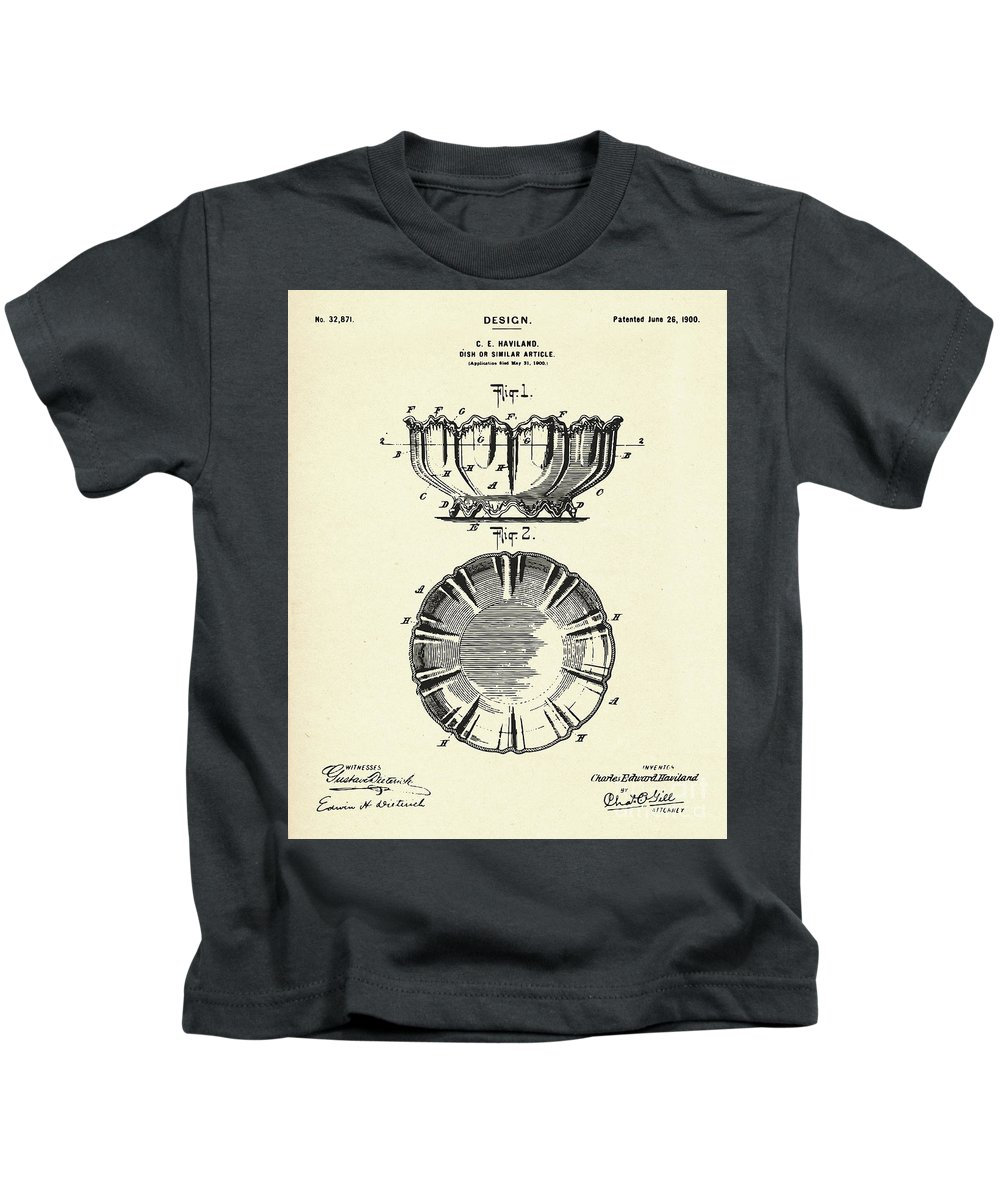Collectibles Kids T-Shirt featuring the painting Dish-1900 by Pablo Romero