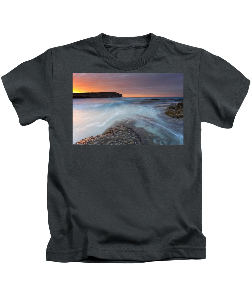 Dawn Kids T-Shirt featuring the photograph Divided Tides by Mike Dawson