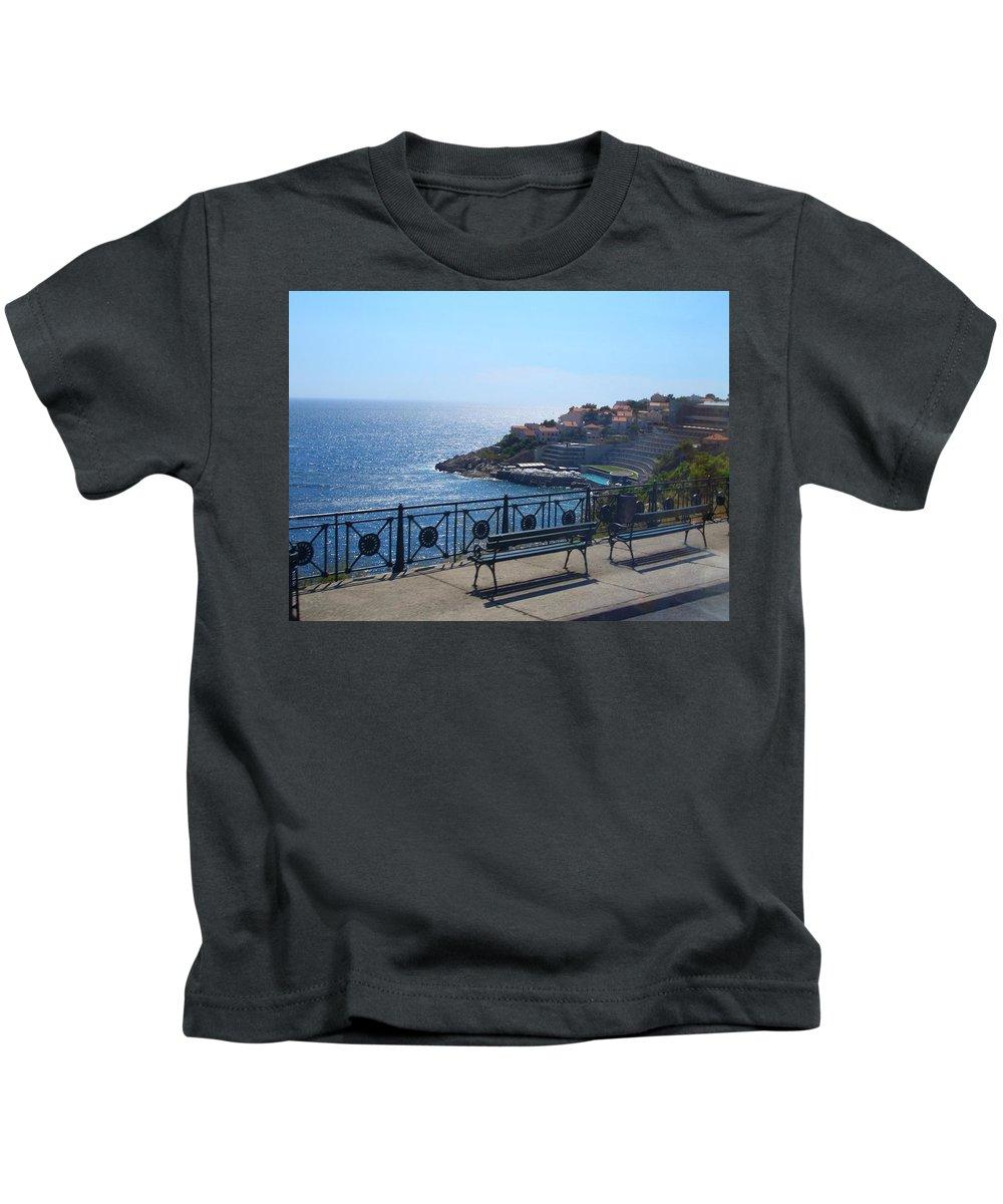 Croatia Kids T-Shirt featuring the photograph Dobrovnik by Tina Luciani-D'alonzo