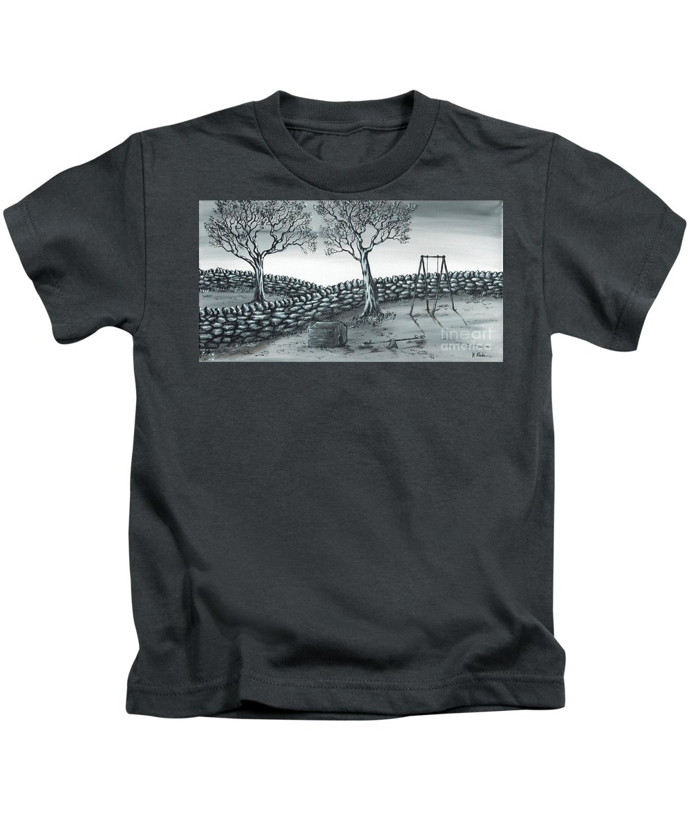 Landscape Kids T-Shirt featuring the painting Dog House by Kenneth Clarke