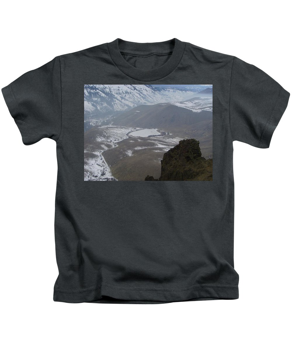 Lakes Kids T-Shirt featuring the photograph Dog Lake From Mt Clemons by Jeff Swan