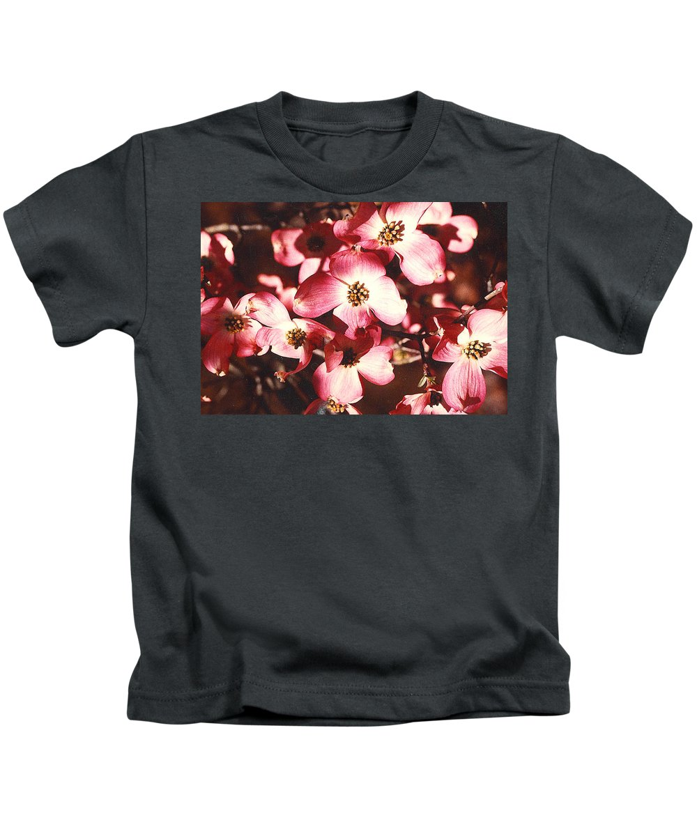 Dogwood Kids T-Shirt featuring the photograph Dogwood Harmony by Nancy Mueller