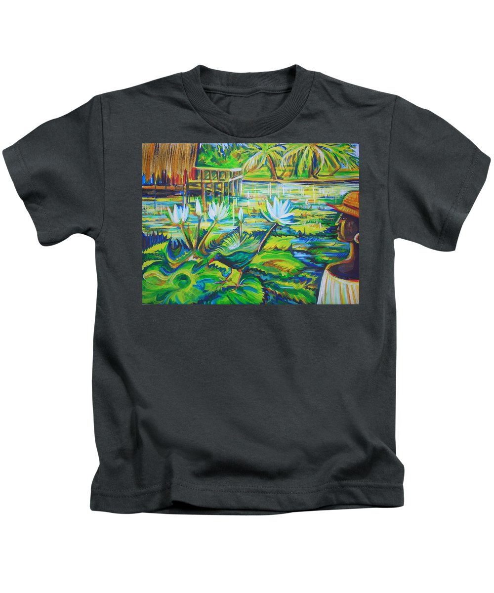 Tropics Kids T-Shirt featuring the painting Dominicana by Anna Duyunova