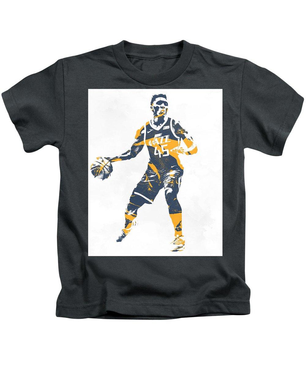 premium selection bbd1a d63eb Donovan Mitchell Utah Jazz Pixel Art 10 Kids T-Shirt