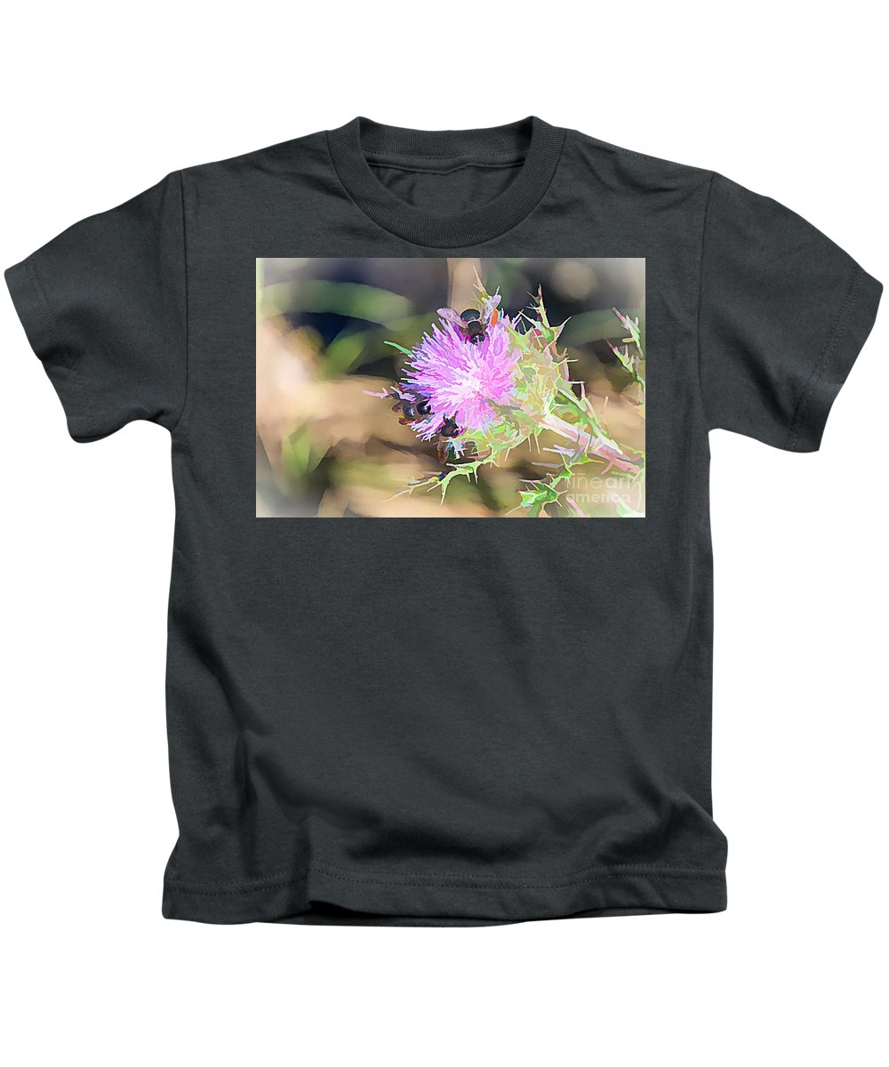 Abstracts Kids T-Shirt featuring the painting Don't Bug Me by Judy Kay