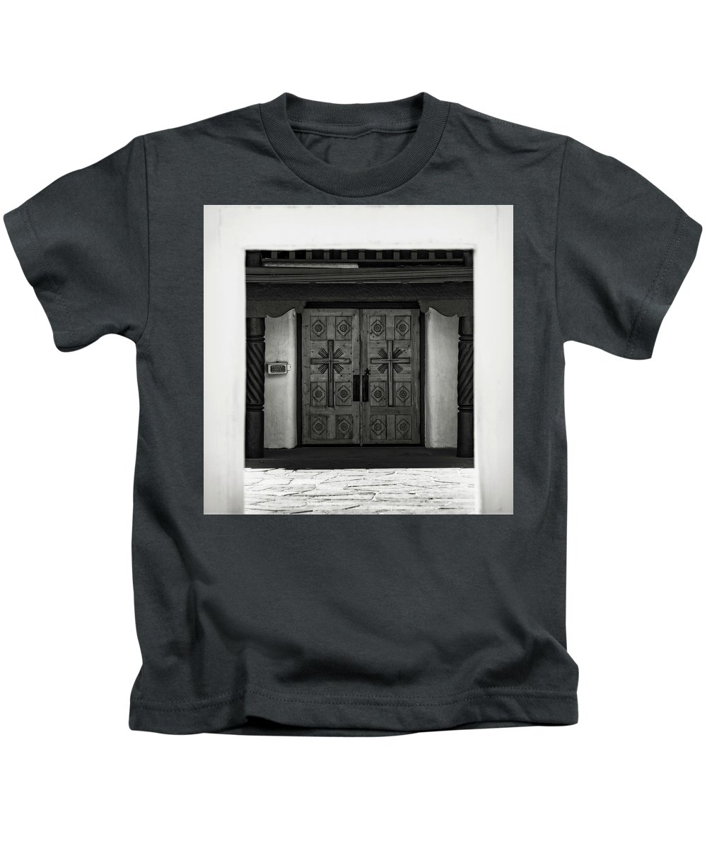 Kids T-Shirt featuring the photograph Doors Of Opportunity by Timothy Princehorn