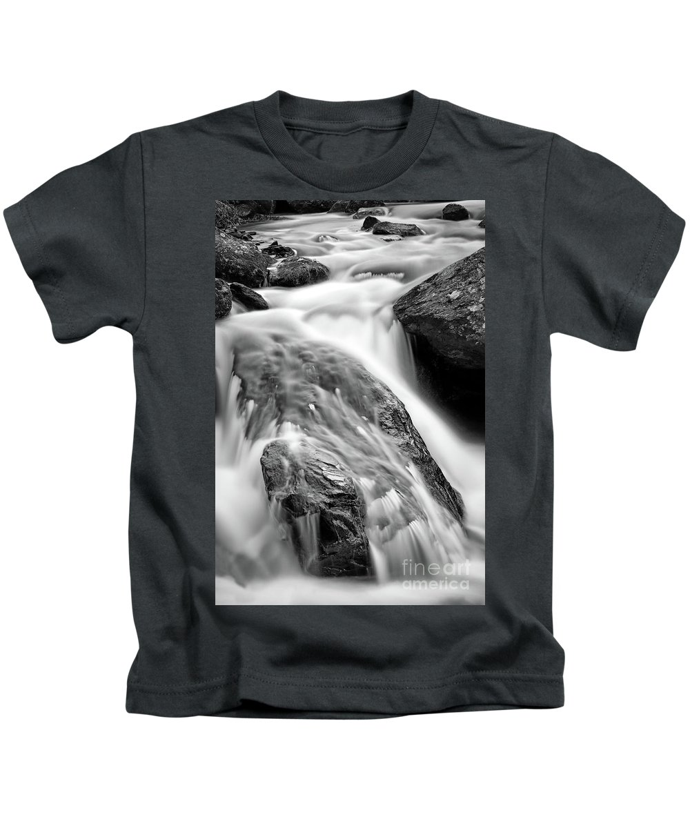 Stream Kids T-Shirt featuring the photograph Downstream From Anna Ruby Falls by Doug Sturgess