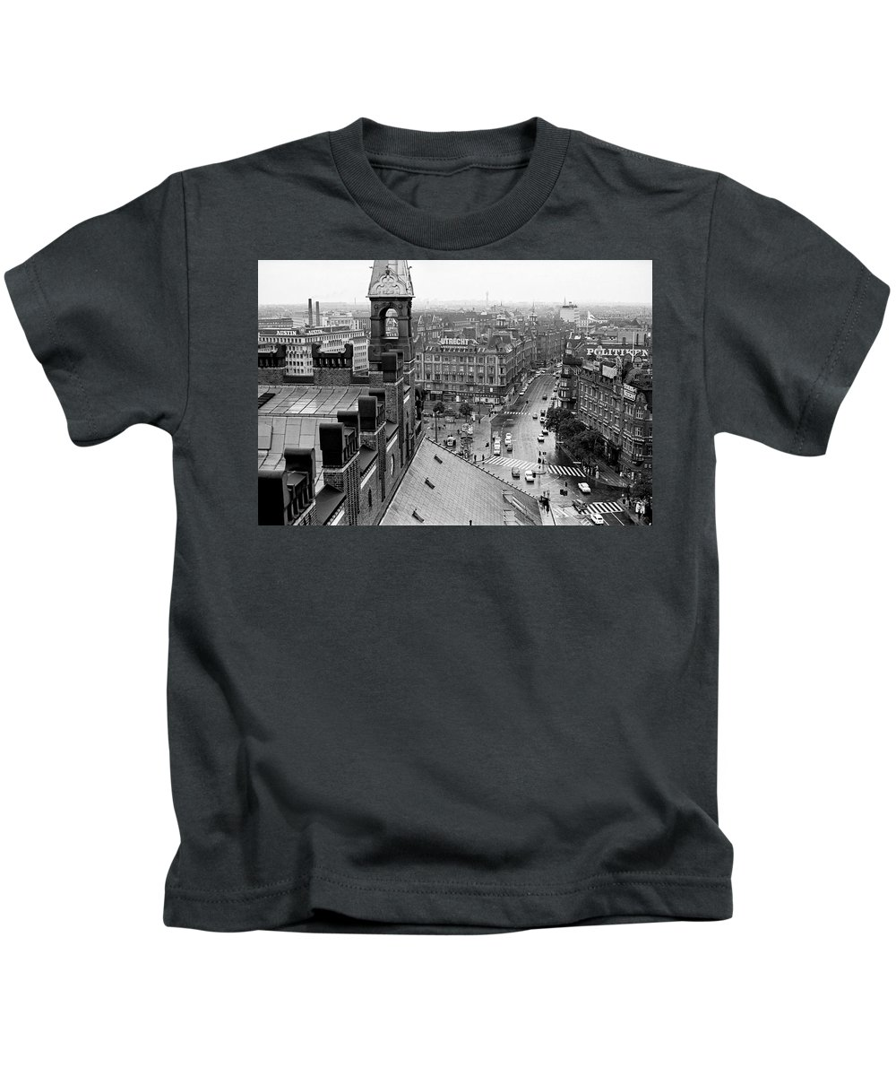Copenhagen Kids T-Shirt featuring the photograph Downtown Kobenhavn by Lee Santa