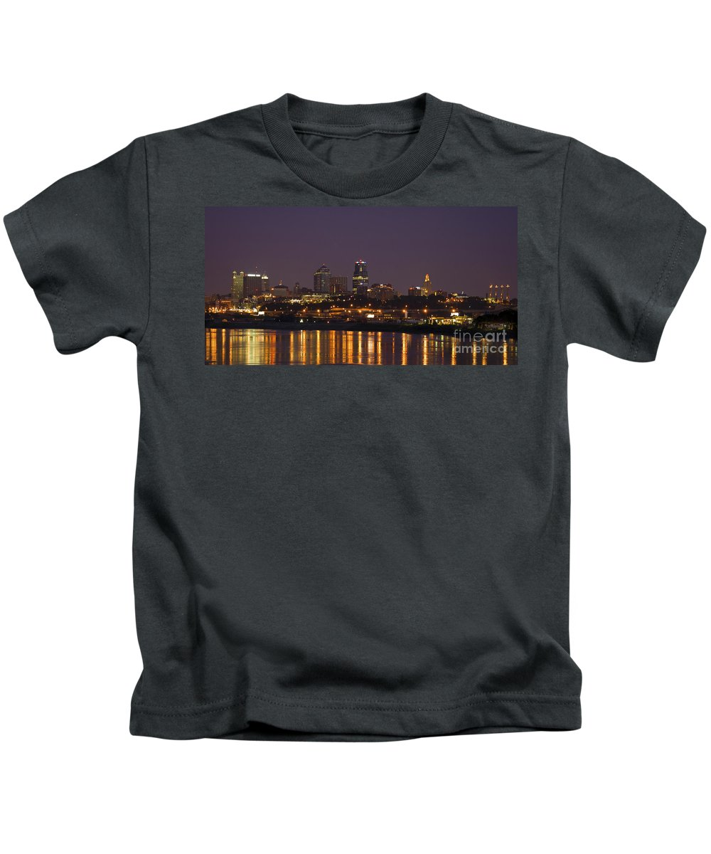 Kansas City Kids T-Shirt featuring the photograph Downtown Reflections by Crystal Nederman