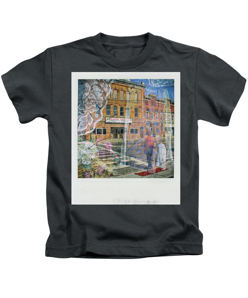 Digital Art Kids T-Shirt featuring the digital art Dragon Garden by Jim Ford