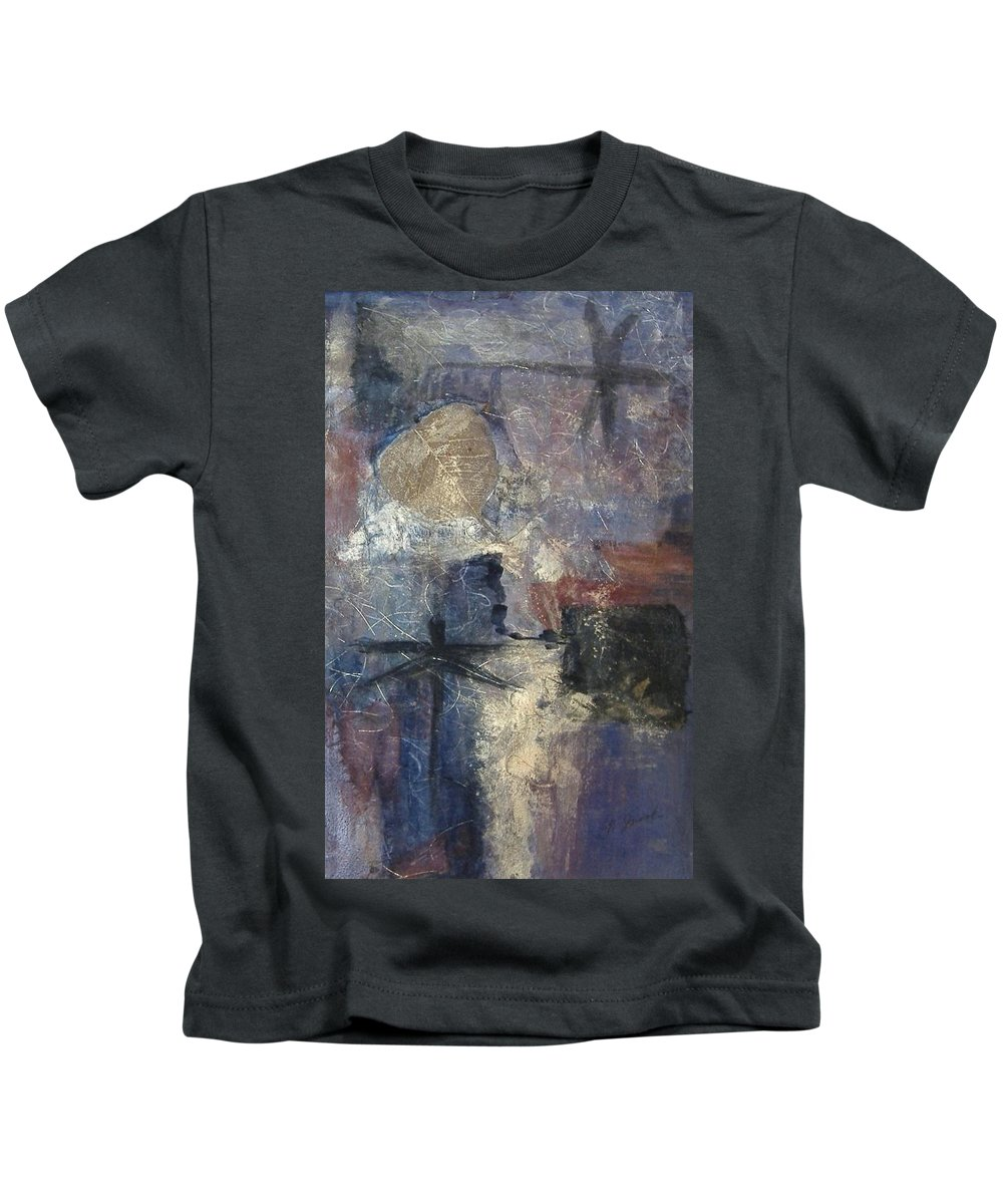 Collage Kids T-Shirt featuring the mixed media Dragonflies by Pat Snook