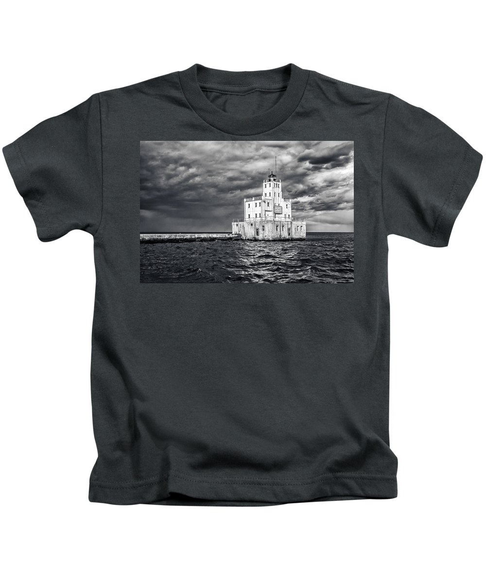 Cj Schmit Kids T-Shirt featuring the photograph Drama In The Clouds by CJ Schmit