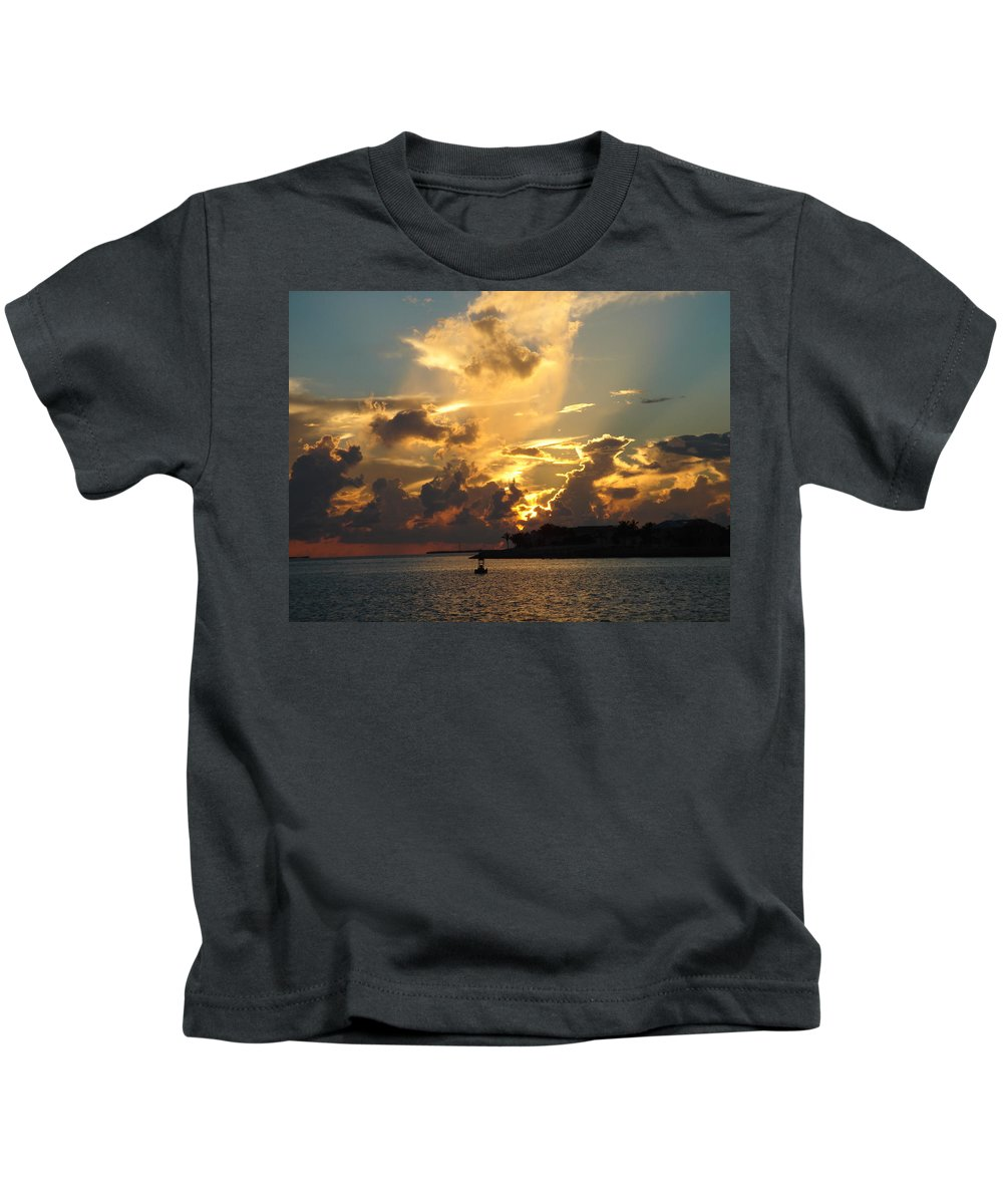 Photography Kids T-Shirt featuring the photograph Dramatic Clouds by Susanne Van Hulst