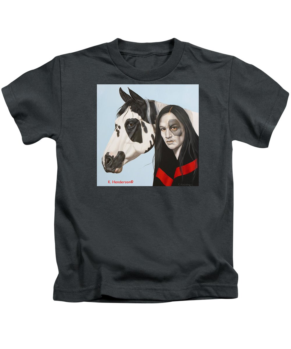 Cowgirl Kids T-Shirt featuring the painting Dreams Await by K Henderson