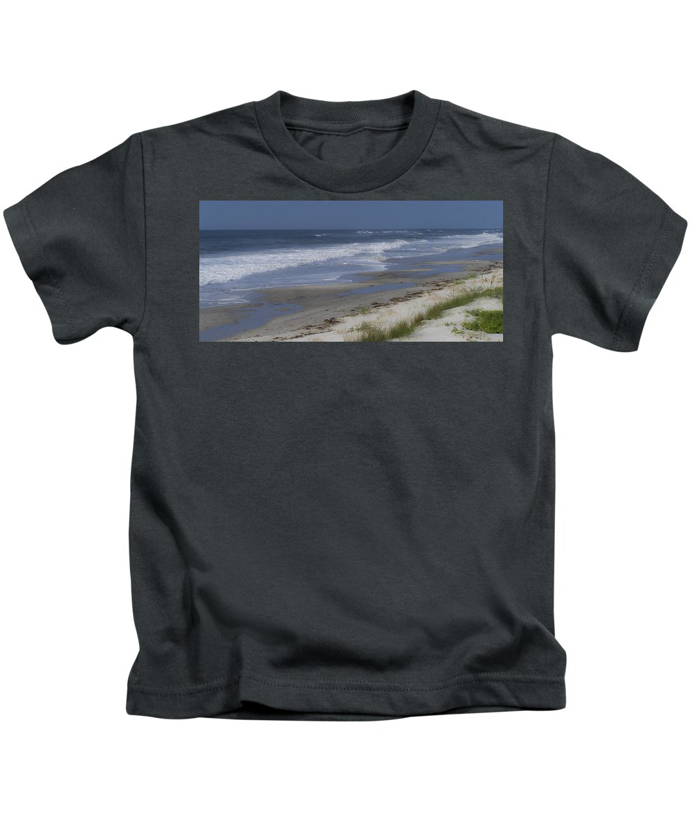 Ocean Kids T-Shirt featuring the photograph Dreamy Beach In North Carolina by Teresa Mucha