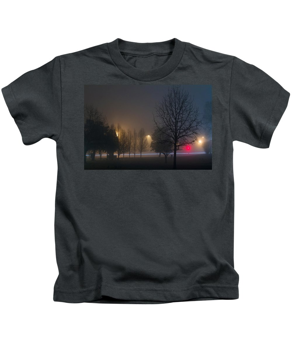Sky Is The Limit Images Kids T-Shirt featuring the photograph Dreamy Nightmare by Becca Buecher