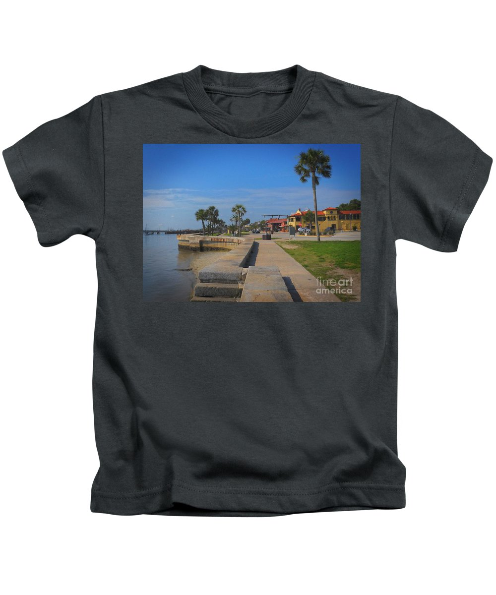 Scenic Tours Kids T-Shirt featuring the photograph Dreamy St Augustine Florida by Skip Willits