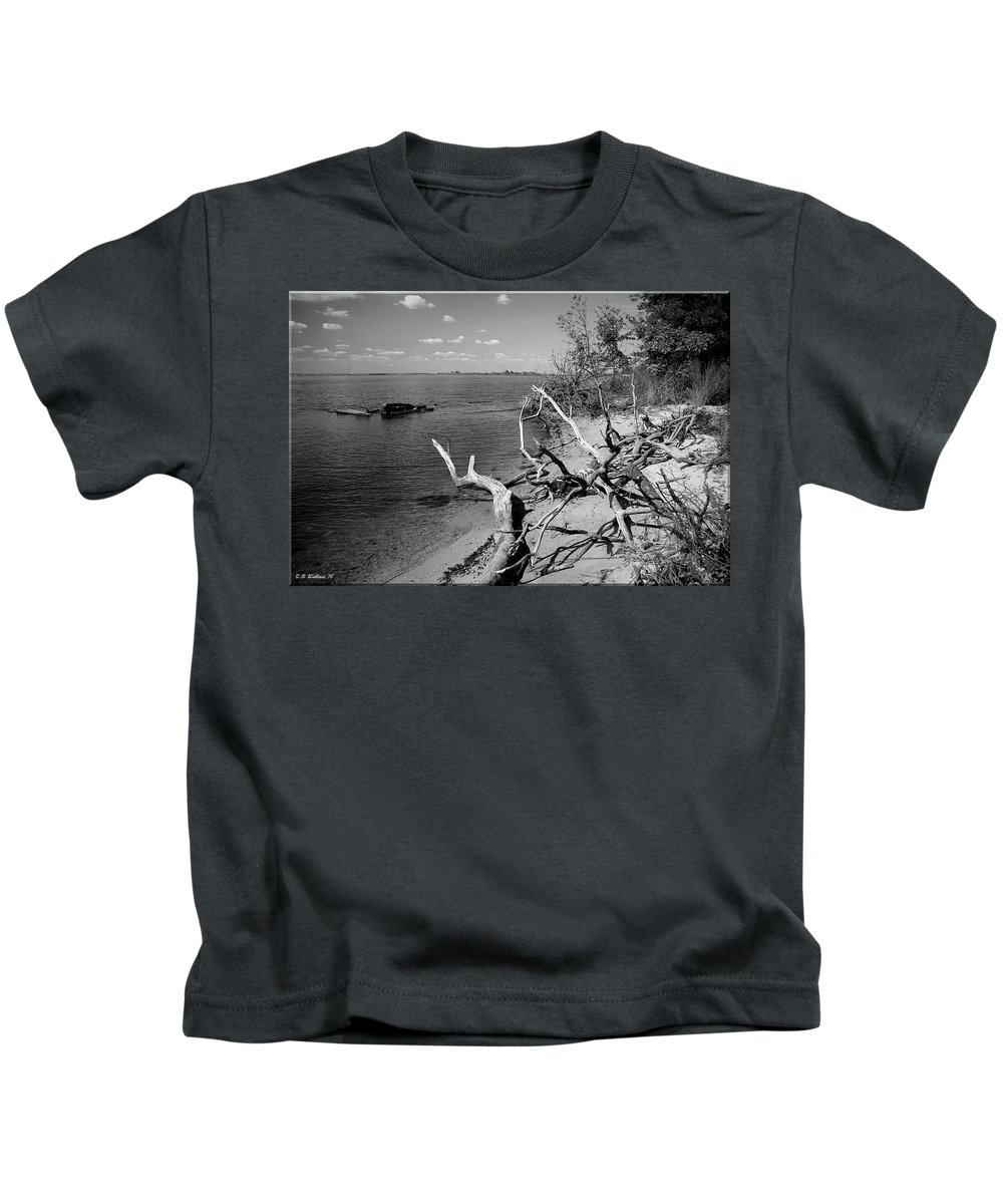 2d Kids T-Shirt featuring the photograph Driftwood by Brian Wallace