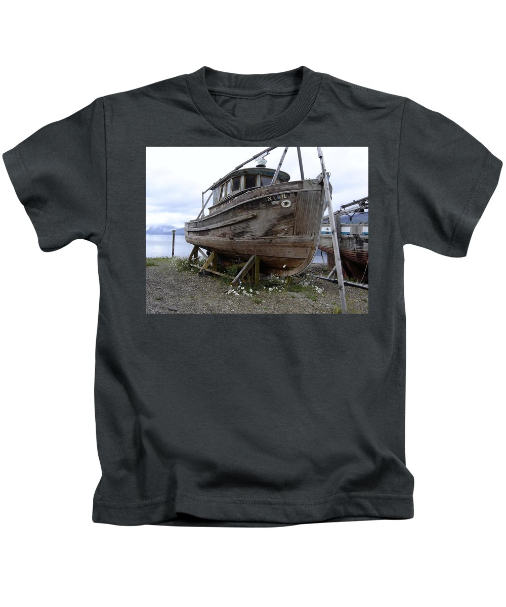 Ship Kids T-Shirt featuring the photograph Dry Dock by Mary Rogers